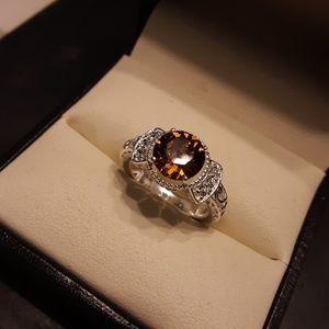 Genuine Swarovski Crystal 925 Sterling Ring